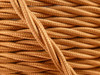 Copper Rayon Cloth-Covered Twisted Electrical Wire - 18 Gauge - Bulk Roll