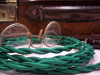 Green Rayon Cloth-Covered Twisted Electrical Wire - 18 Gauge - Bulk Roll