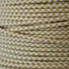 Single Conductor Wire - 18 Gauge - Gold & WHite Houndstooth - Nylon Covered Wire