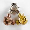 Swivel Clutch Elbow - Cast Brass - Butterfly Knob - Copper Finish