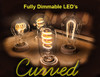 Curved LED Filaments Bulbs