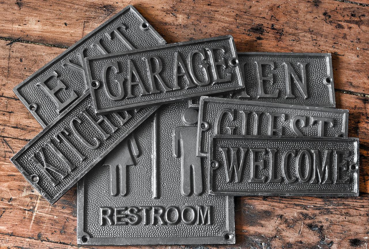 Door Sign Gents Door Plaque Decor Cast Metal Cast Plaque