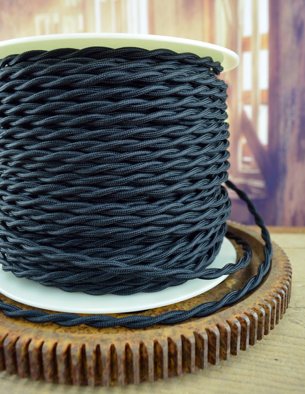 Purple Cloth Covered Twisted Electrical Wire 25 ft Steampunk Retro Lamp Cord