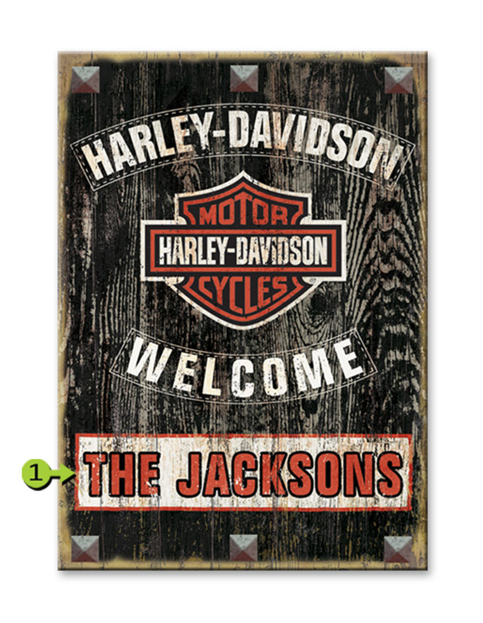 Harley Davidson Personalized Wood Sign