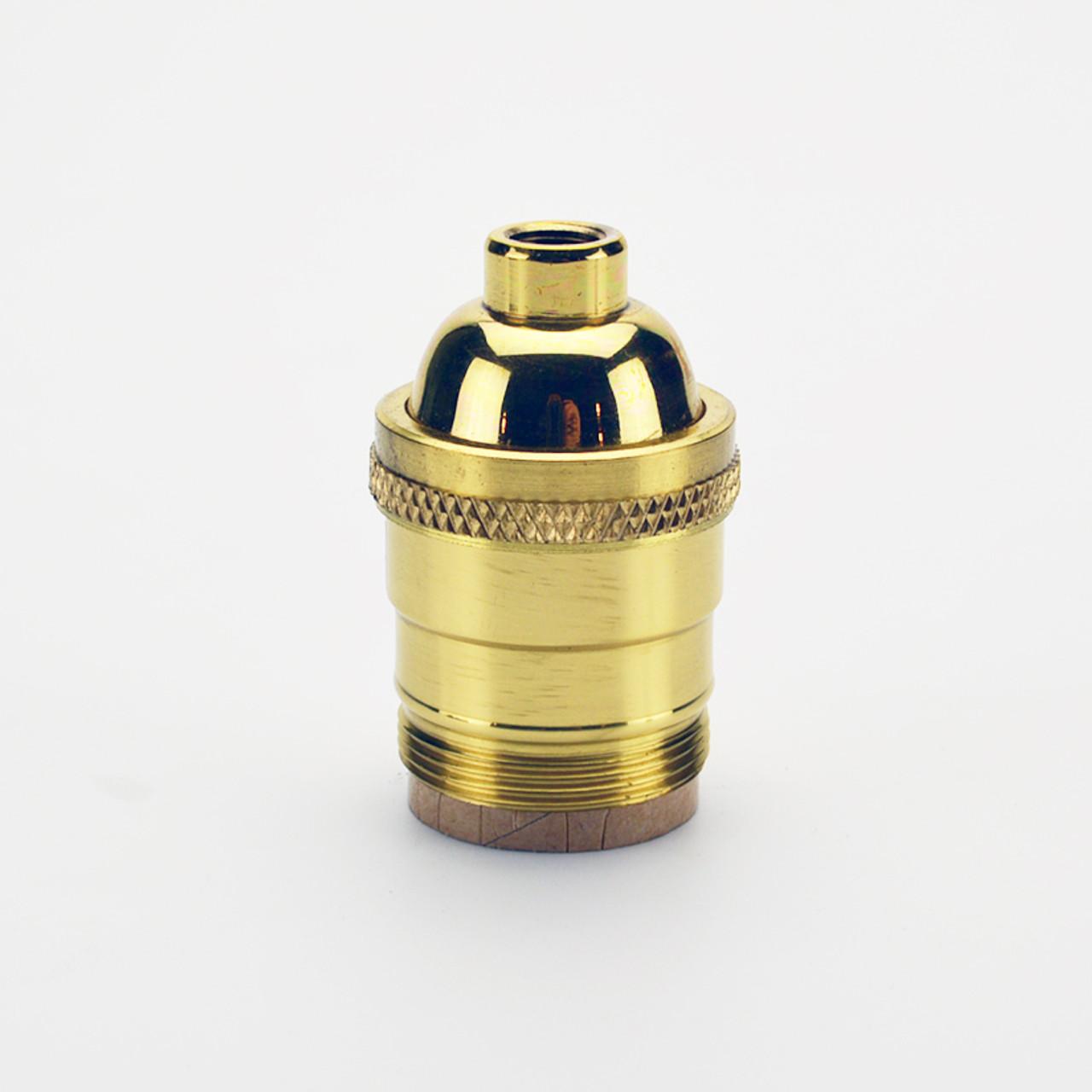 New Solid Brass UNO Ring To Medium E26 Brass Sunlite Socket Nickel Plated #295N