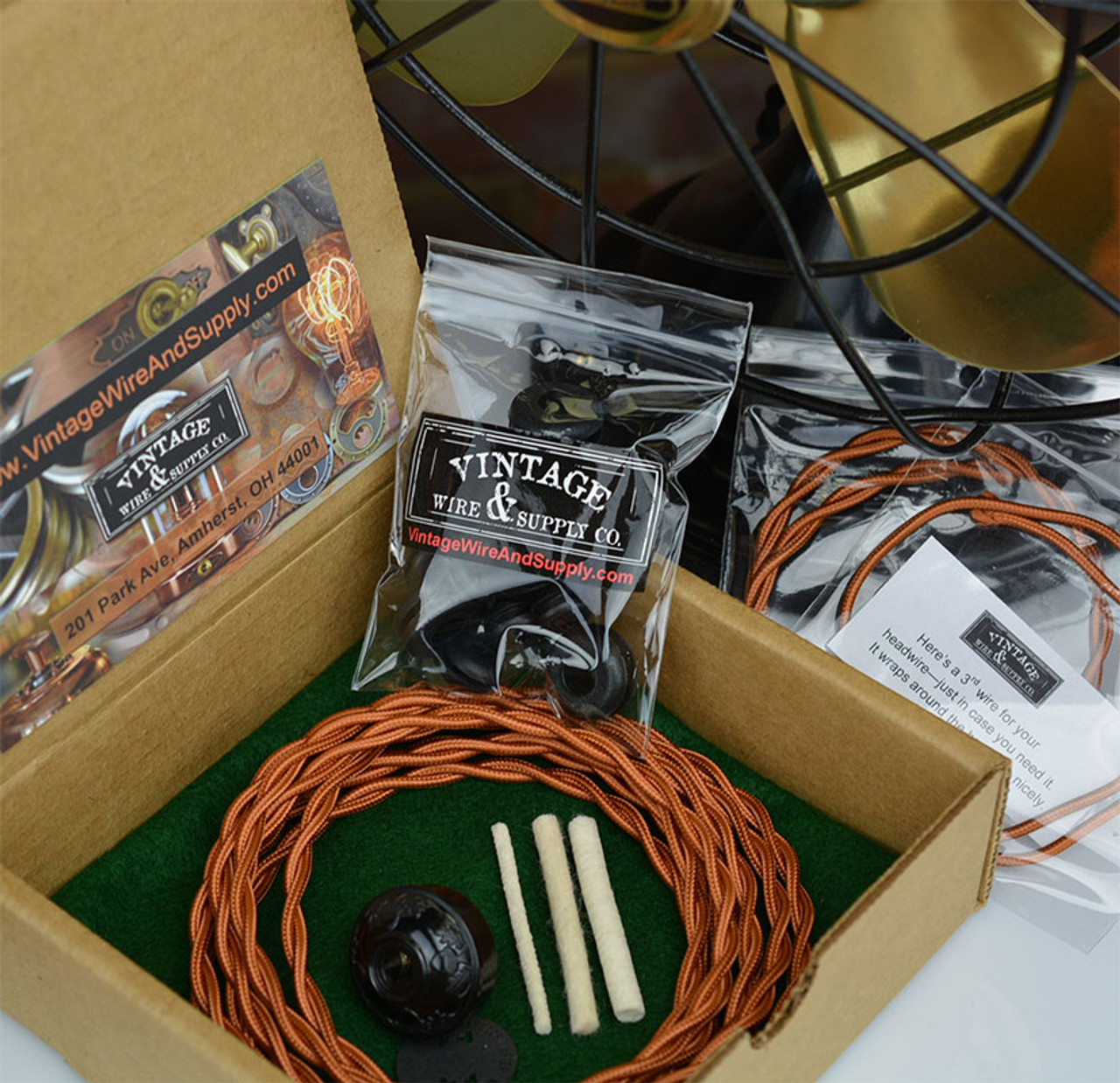 Antique Fan Restoration Kit Vintage Wire Supply