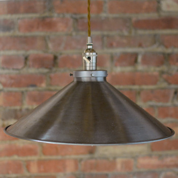 "16"" Unfinished Industrial Shade."