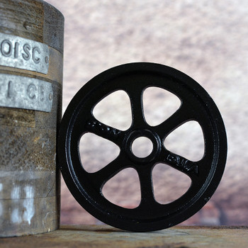 Black Barn Door Hardware Wheel