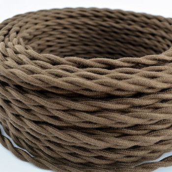Brown Cotton Antique Style WIre