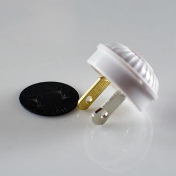 White Mid-Century Plug