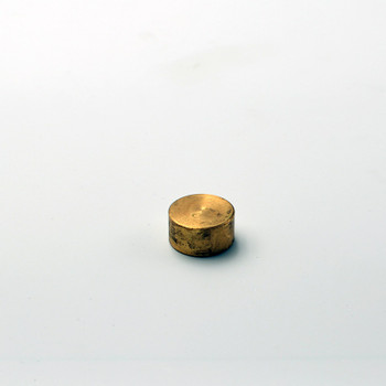 1/8 IPS Finial Cap - Unfinished Brass Finish