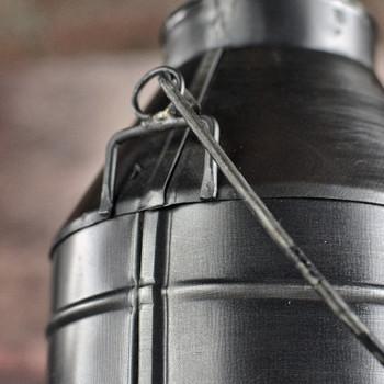 Milk Can Base - Small Replica - Antique Black