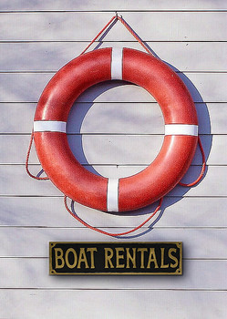 Boat Rental Sign