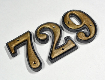 House Number - 9 - Cast Metal - Two-Piece Design