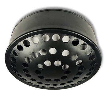 """Perforated Ceiling Light Housing - 12"""" - Black"""