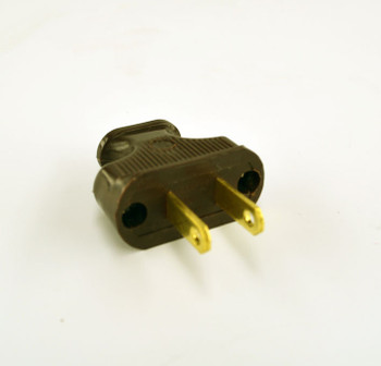 Dark Brown Electrical 2-Prong Plug