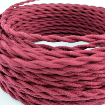 Wine Colored Cotton Wire