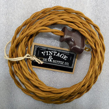 Antique Bronze Lamp Cord