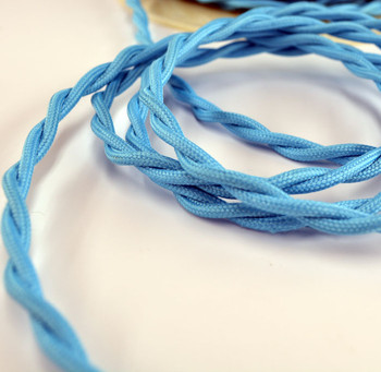 Sky Blue Retro Cloth Wire