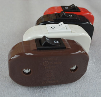 Brown Inline Lamp Switch
