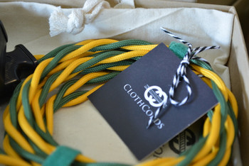 Green and Gold Cloth-Covered Wire