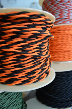 Black & Orange Cloth Wire