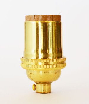Polished Brass Lamp Socket