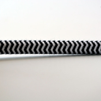 Black & White ZigZag - Round Cloth-Covered Electrical Wire - 18 Gauge - Bulk Roll