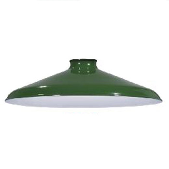 "Metal Pendant Shade 10"" - Industrial Style - Green"