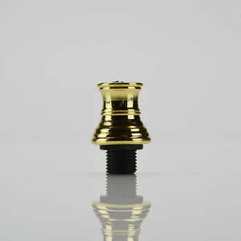 Deluxe Strain Relief - Polished Brass (for twisted wire)