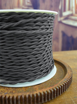 Charcoal Gray Twisted Wire - By the Foot - Small Qty - 18 Gauge