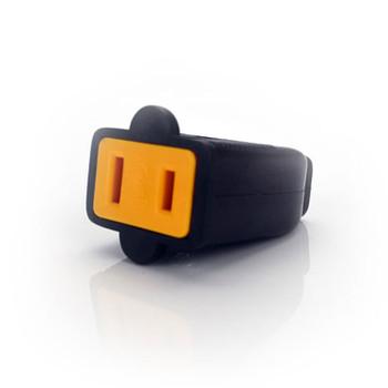 Black Straight Blade Connector