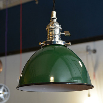 Green Industrial Metal Shade