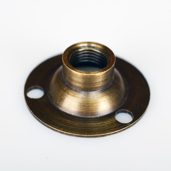 Pipe Flange - Antique Brass