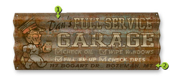 Old Garage metal Sign