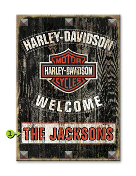 Harley Davidson Personalized Sign