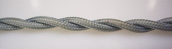 Gray Cotton Cloth-Covered Twisted Electrical Wire - 18 Gauge - Bulk Roll