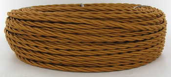 Bronze Cloth Covered Wire 18 gauge