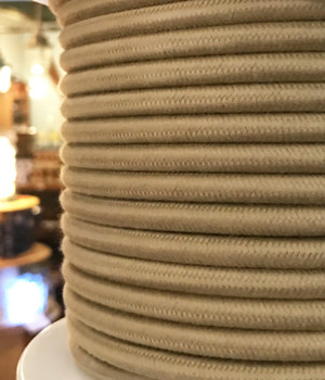 Beige Cotton Round Wire
