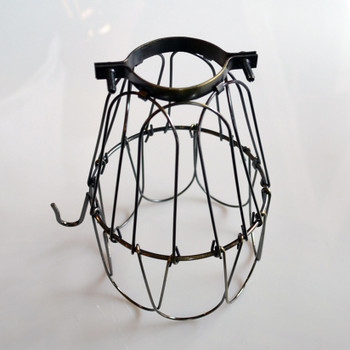 Antique trouble light cage