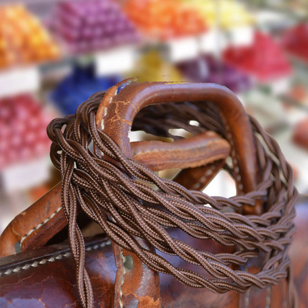 Chocolate Brown Rayon Wire