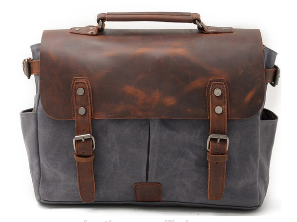 Charcoal Messenger Bag