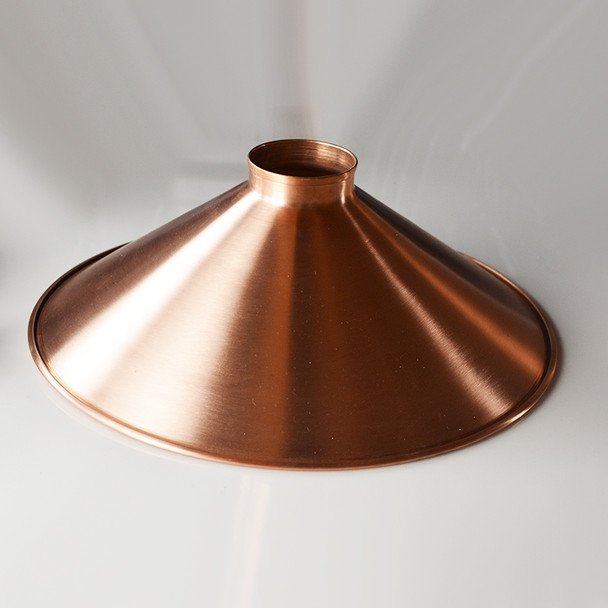 "16"" unfinished copper shade"