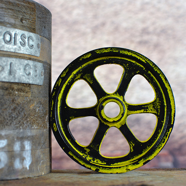 Grunge Yellow Pulley Wheel