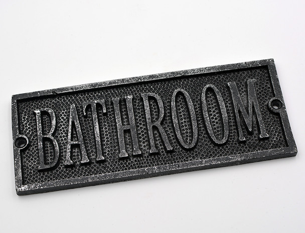 Bathroom Door Plaque