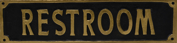 Antique Restroom Sign
