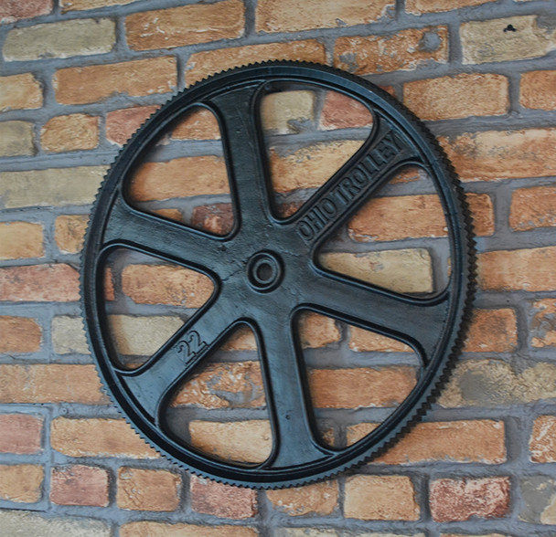 Huge Pulley Gear Home Decor
