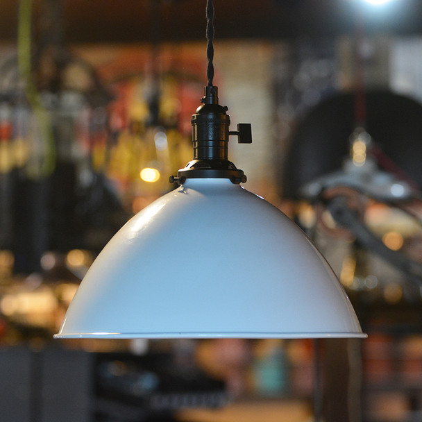 """12"""" Industrial Shade White"""