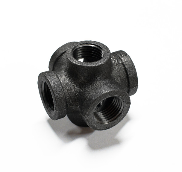 6-Way Cross Pipe Fitting