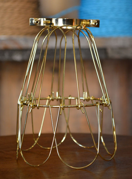 Brass Bulb Cage